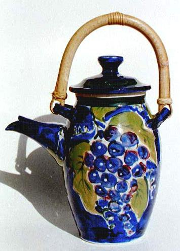 Grapes on Tea Pot